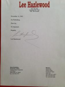 Hazlewood letter