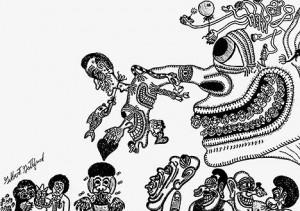 Lowbrow Reader's Comic Art by Gilbert Gottfried